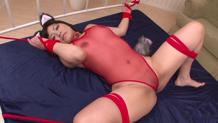 Incredible asian Aika Hoshino in real hardcore performance