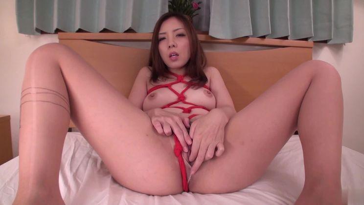 Adorable asian Maki Mizusawa is giving head