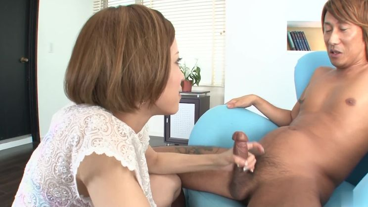 Heavenly oriental Ena Ouka is makeing dude cum