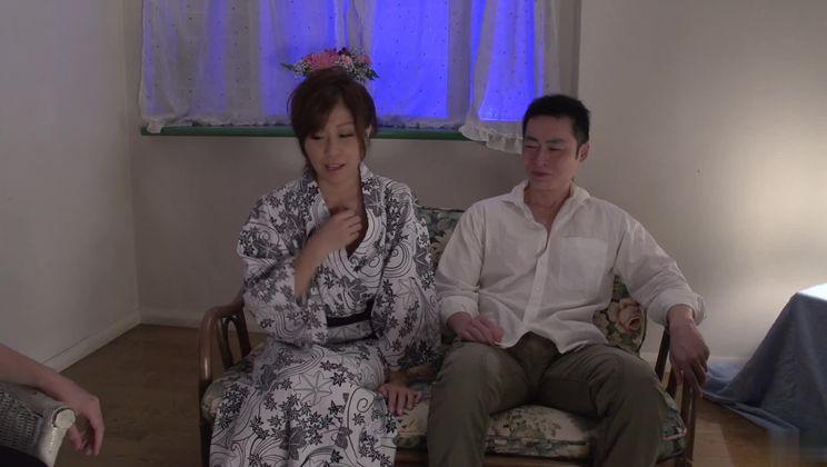 Enticing breasty Japanese Chihiro Akino in cumshot XXX scene