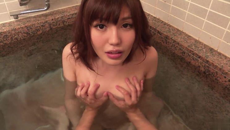 Unbelievable Japanese Yua Ariga giving a hot handjob