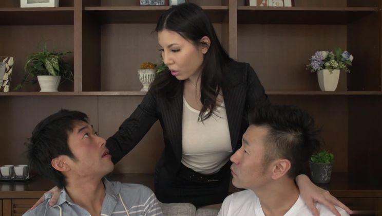 Ambrosial buxomy oriental Sofia Takigawa is making a perfect Blowjob