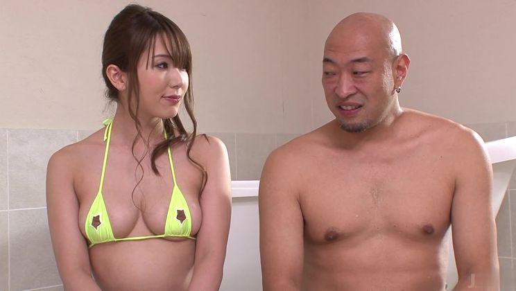 Tempting asian Yui Hatano making best ever footjob