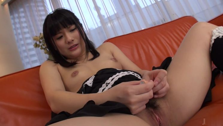 Charming oriental cleaning lady An Koshi