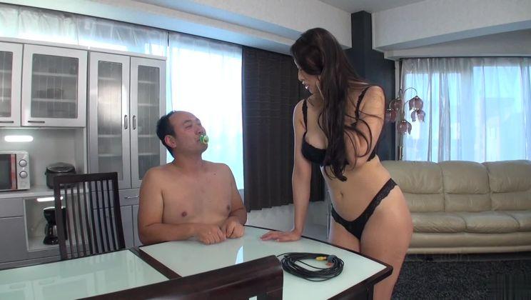 Godly breasty Japanese Reiko Kobayakawa giving a hot handjob