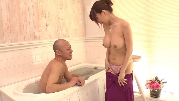 Godlike breasty oriental Chihiro Akino allows guy to cum inside