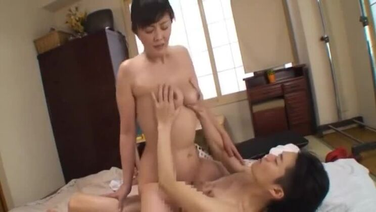 Delightful flat chested oriental huzzy having an amazing massage fuck
