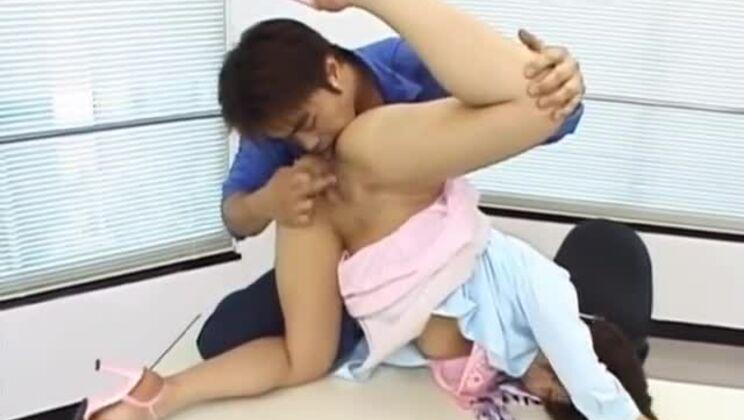 Divine Japanese huzzy in lingerie porn video