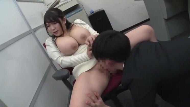 Enticing buxomy Japanese hussy