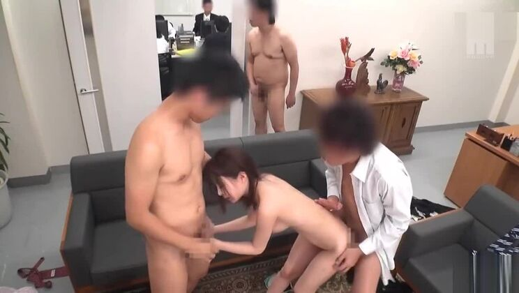 Teasing breasty oriental lady perfroming in fetish sex video