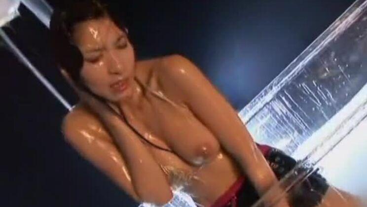 Godly buxomy Japanese Riko Tachibana in lingerie porn video