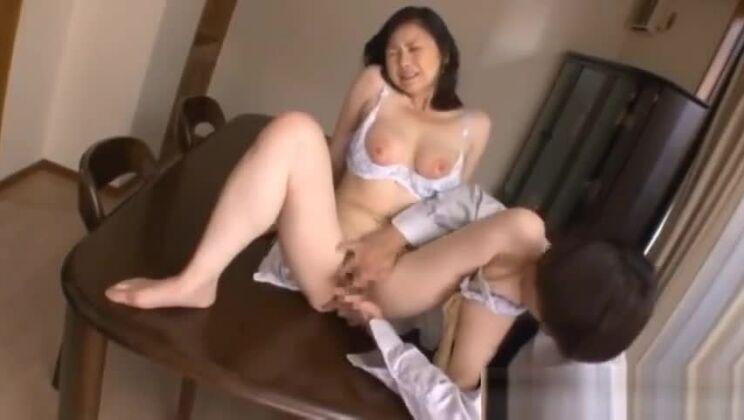Lovely Japanese slut in interracial sex scene