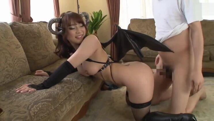 Fine-looking oriental gal embodies her fetish dream