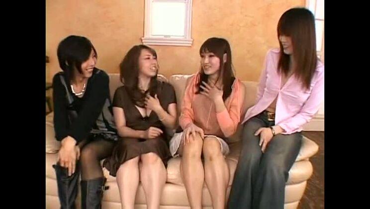 Small tits sex video featuring Miya Sakura, Yumi Kazama and Megumi Asakura
