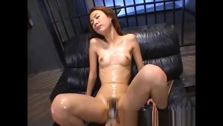 Godlike asian tart performing in bukkake porn