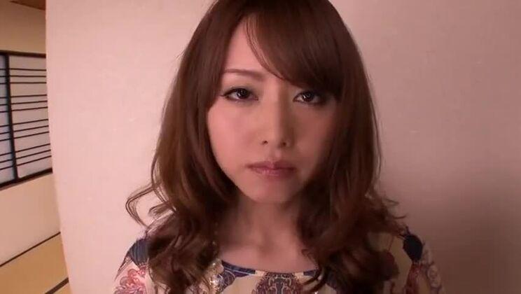 Racy breasty oriental Akiho Yoshizawa making dudes dreams come true by receiveng facial cumshot