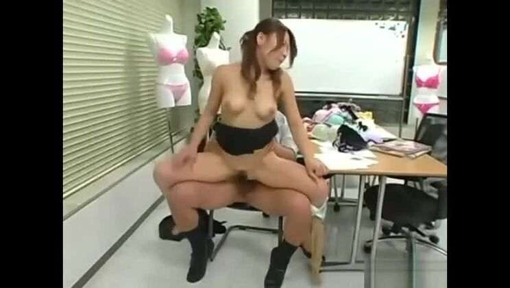 Bonny Japanese sexretary pleased to have some facial sperm shot