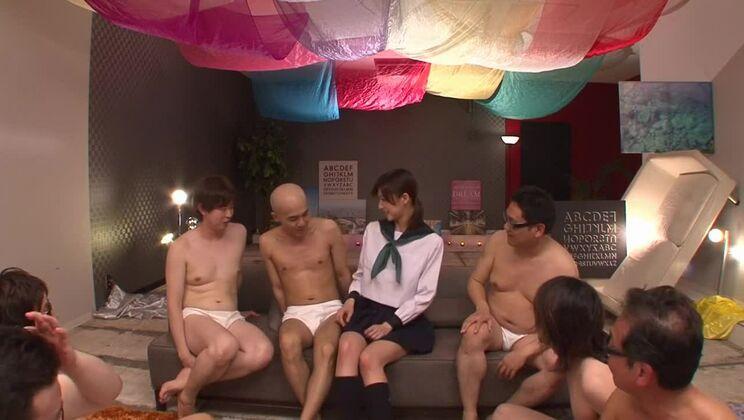 Hot Japanese Ichika Kanhata having an extreme gangbang experiance