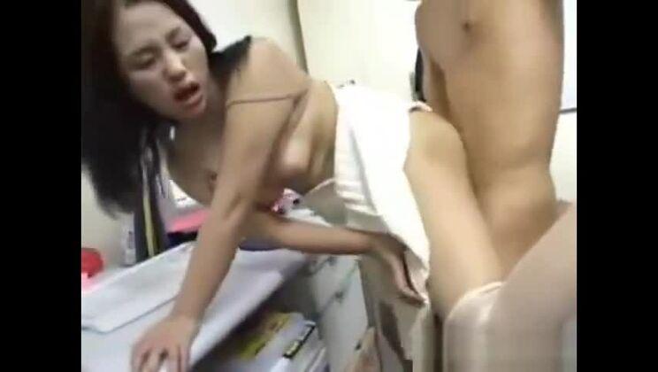 Beautiful oriental lady having an amateur fun times