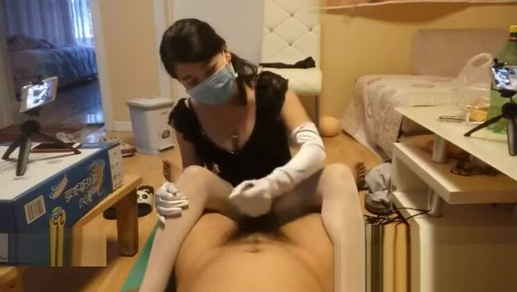Charming asian hussy making an amazing foot feish video