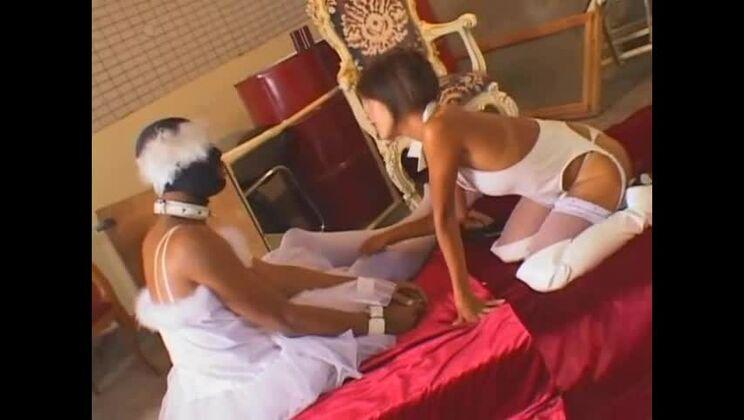 Stunning buxomy Japanese Sakura Sakurada in a kinky sex movie