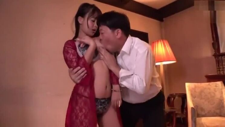 Pleasing Japanese huzzy in incredible cuckold session