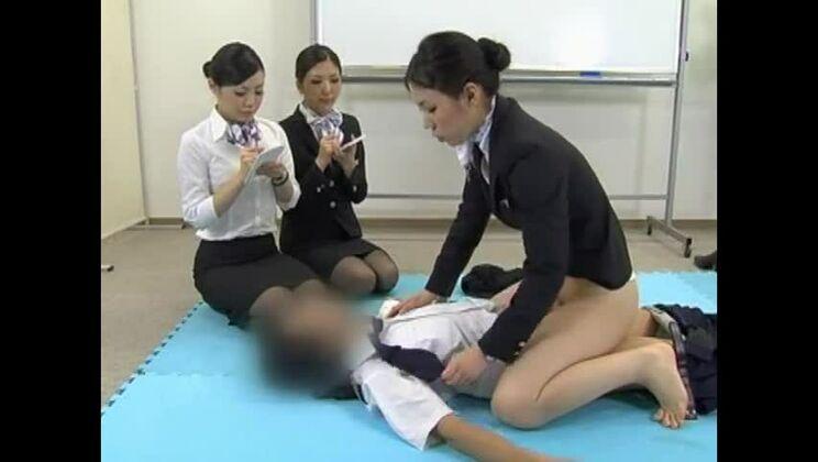 Femdom porn video featuring Yuu Mahiru, Maki Sakashita and Maho Sawa