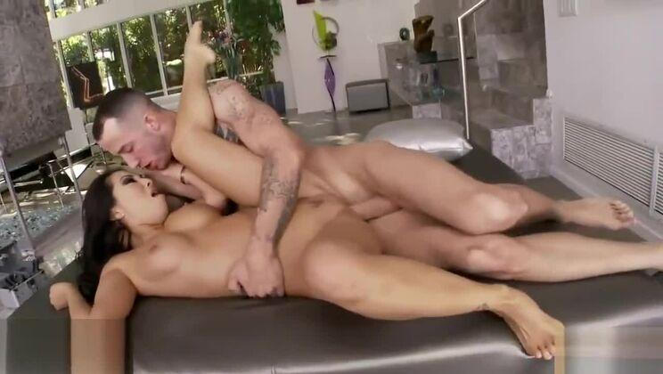 Lovely buxomy asian Asa Akira in foot fetish sex movie