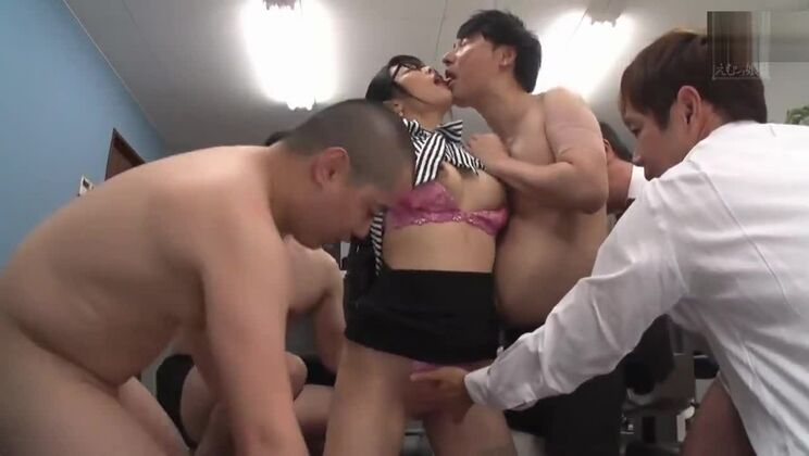 Incredible buxomy asian secretary is getting facialized