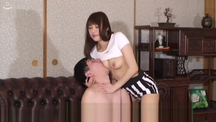 Adorable asian lady in a kinky sex video