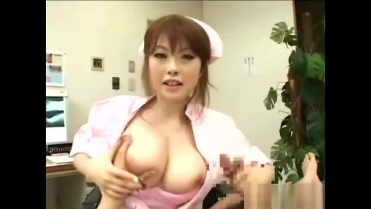 Unearthly oriental lady performing a medical examination