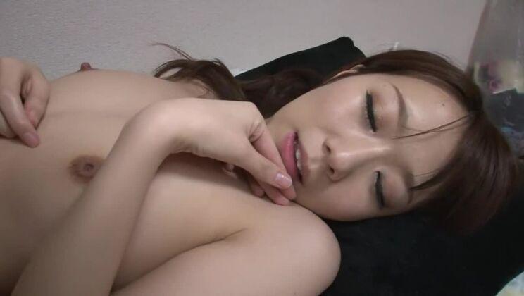 Sexy flat chested oriental Hitomi Oki