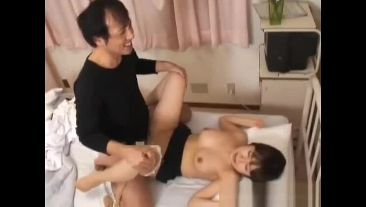 Handsome asian gal featuring hot medical porn video