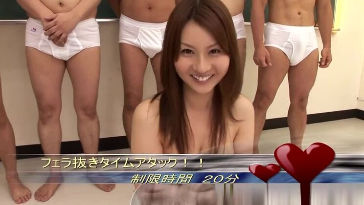 Good-looking asian Yui Tatsumi having an extreme gangbang experiance outside
