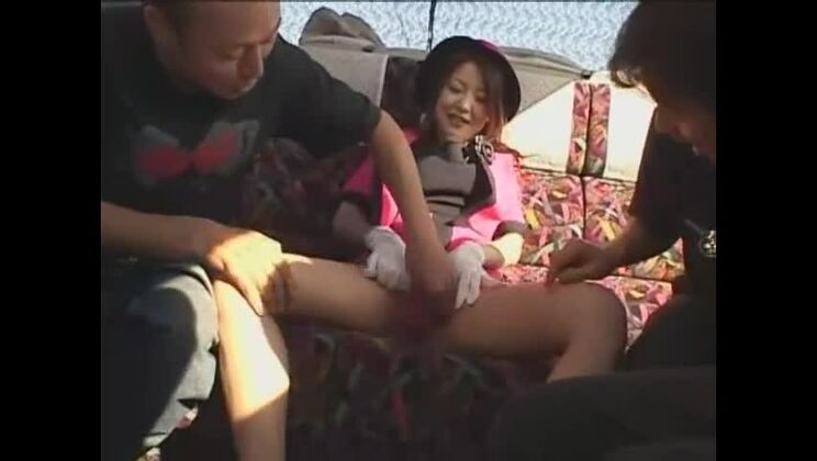 Tempting breasty Japanese Ruka Uehara getting fingered