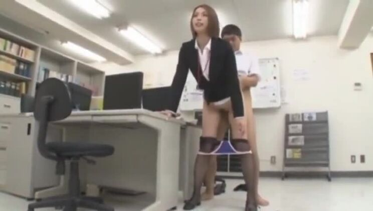 Divine Japanese secretary Sarina Shiraishi in ultra glam fetish fun