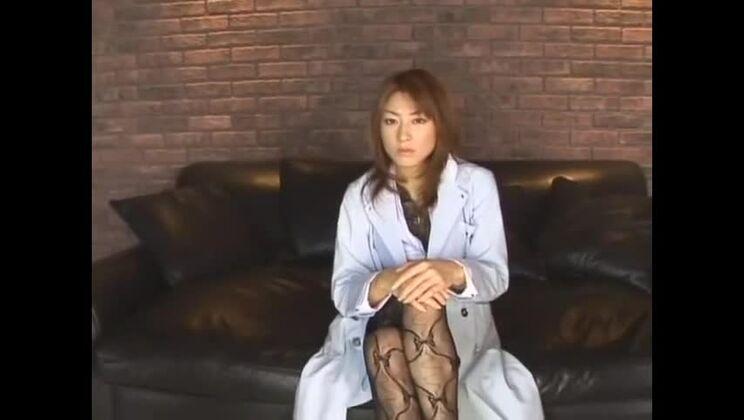 Incredible Japanese chick Karen Kisaragi in Hottest Stockings, Threesome JAV video