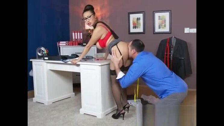 Foxy MILF Sharon Lee Enjoys Big Cock Of Boss