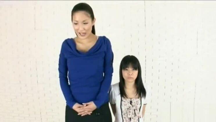 Tall vs short japanese lesbians