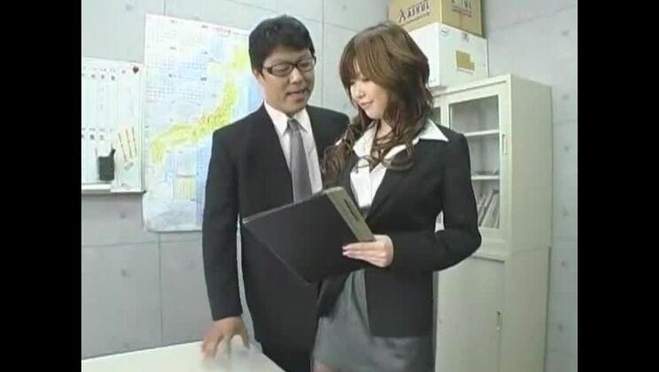 Horny Japanese chick Rio Hamasaki in Best Cougar, Secretary JAV movie