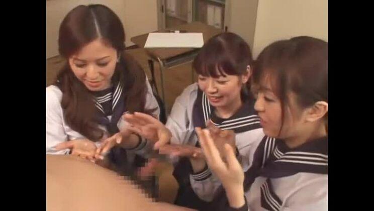 Fabulous Japanese girl Meisa Hanai, Nana Aoyama, Nao Mizuki in Exotic Group Sex, POV JAV clip