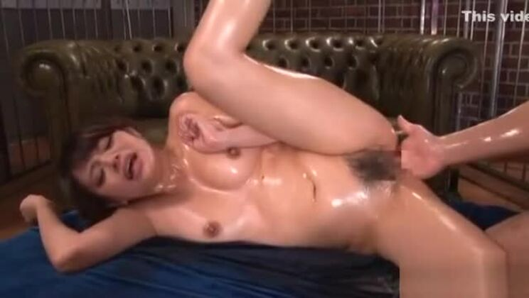 Busty Asian gal plays with dick after getting holes caressed