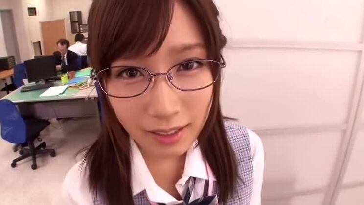 Honey busty Japanese young girl Minami Kojima got a sperm shot on her face