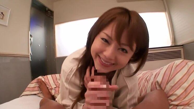 Naughty Asian milf, Akiho Yoshizawa in pov blowjob action