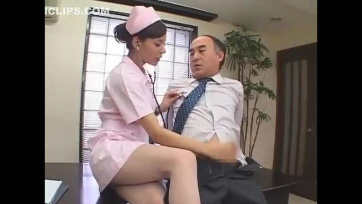 japanese nurse stethoscope exam