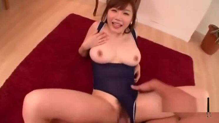 Busty Asian Girl In Swimsuit Getting Her Pussy Fucked Cum To Mouth On The C