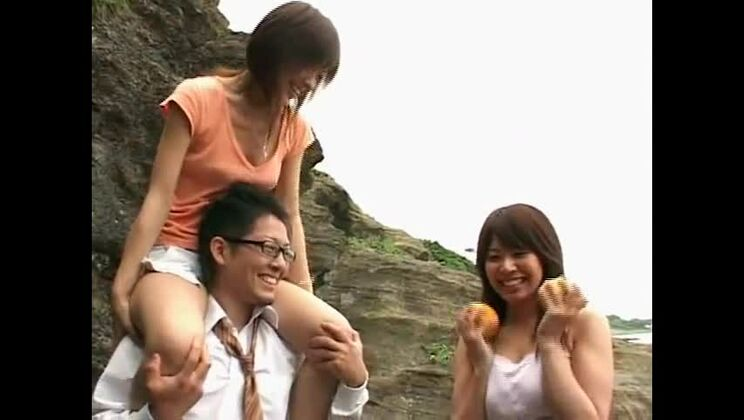 Best Japanese whore Mao Saito, Arisa Kanno in Incredible Compilation, Beach JAV scene