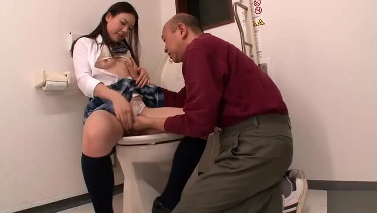 Juicy small titted Japanese young slut Maho Ichikawa gives her pussy a finger