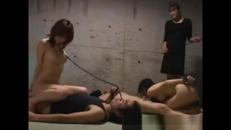 Young asian slaves pleasing masters