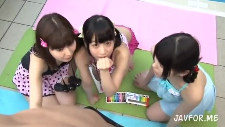 three young girls trick guy into giving mouth to mouth